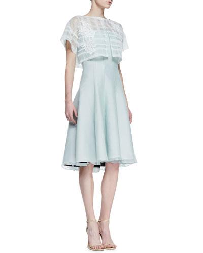 Short Sleeve Strapless Dress with Pop Top, Mint