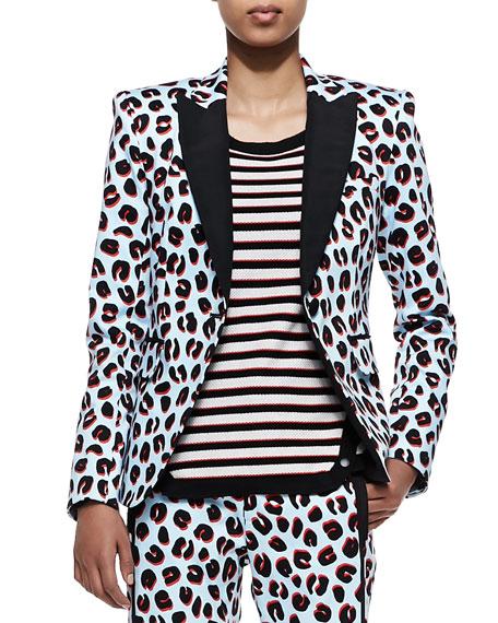 1b99c7b2eeed Veronica Beard Leopard-Print Tuxedo Jacket