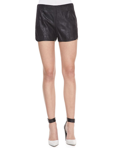 Darby Faux-Leather Shorts