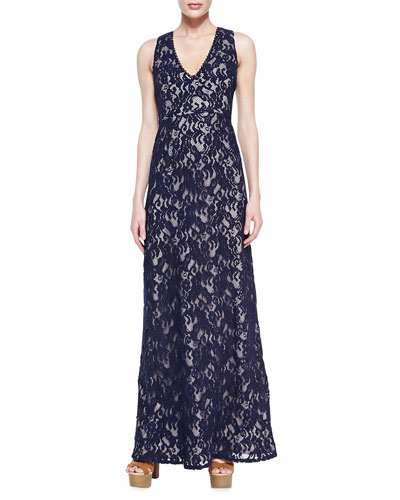 Katrine Sleeveless Lace Gown