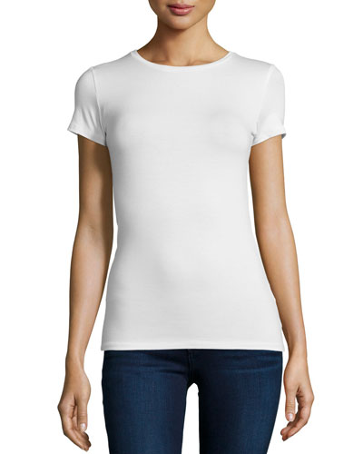 Soft Touch Basic Short-Sleeve Jersey Tee