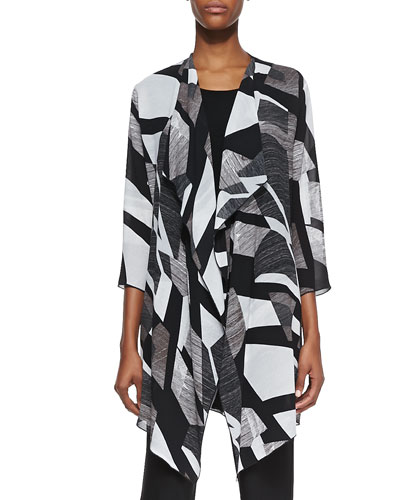 Fragmented Draped Long Jacket