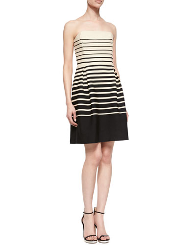 Kenzie Strapless Striped Dress