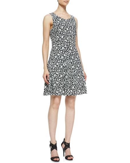 9a55985d9b7 Diane von Furstenberg Clara Leopard-Print Fit-And-Flare Dress