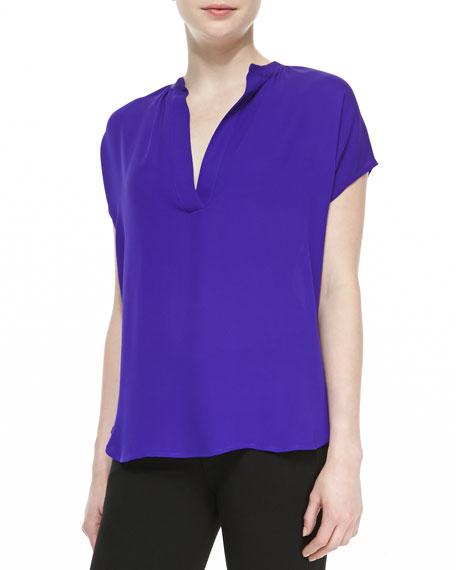 76735c4eb19b7 Diane von Furstenberg Alana Short-Sleeve V-Neck Shirt