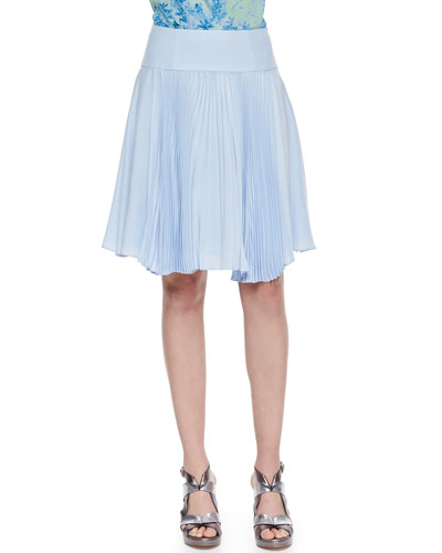 Sunny Day Pleated Chiffon Skirt