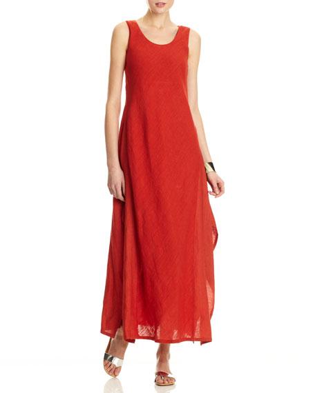 6c3dd78a48 Lafayette 148 New York Angie Linen Gauze Sleeveless Long Dress ...