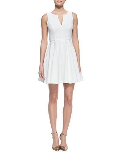 Aria Puckered Crepe A-Line Dress