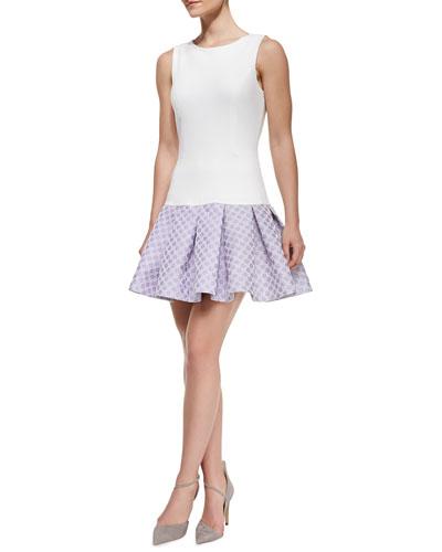 Audrey Sleeveless Flounce Skirt Cocktail Dress