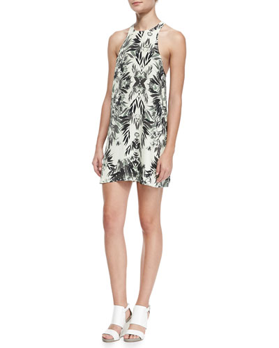 Wright Floral-Print Racerback Dress