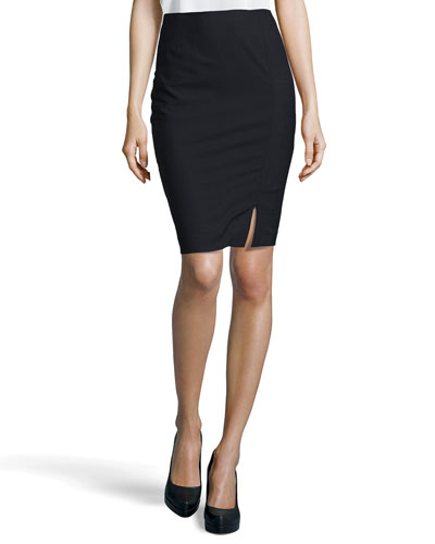 Mid-Length Pencil Skirt, Navy