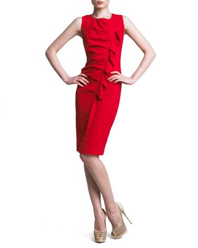 Gathered Asymmetric Dress