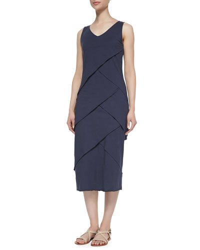 Eventide Tiered Dress, Navy