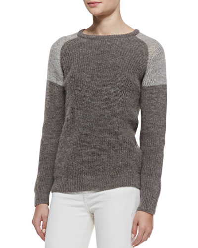 Piper Two-Tone Ribbed Sweater
