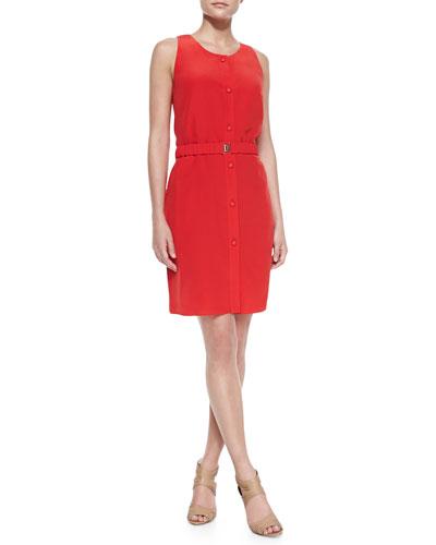 Sleeveless Button-Front Dress