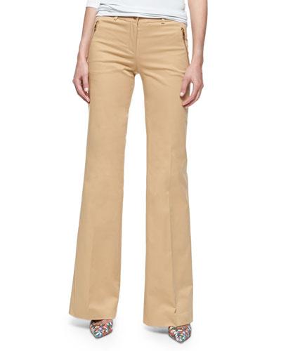 Stretch Cotton Cargo-Pocket Pants