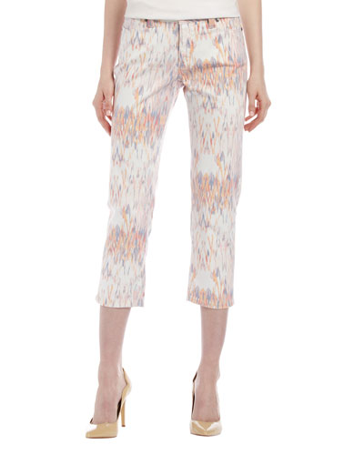 Chloe Ikat Cropped Jeans