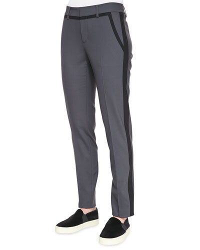 Nautical Strapping Pants, Slate/Black