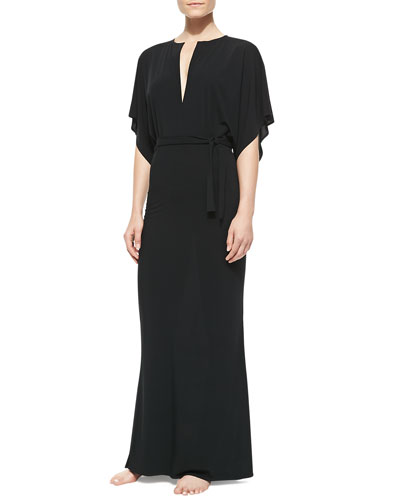 Obie Jersey V-Neck Coverup Gown