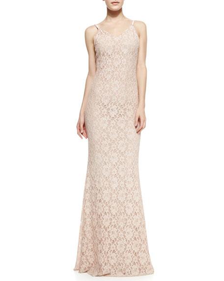 Alice + Olivia Laura Spaghetti-Strap Maxi Dress