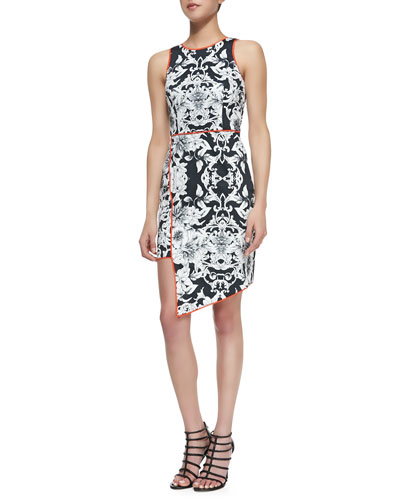 Romantic Rhapsody Sleeveless Asymmetric Hem Dress