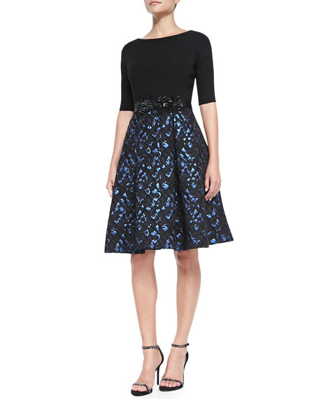 589b49c0f8 Rickie Freeman for Teri Jon 3 4-Sleeve Snake-Print Skirt Cocktail Dress
