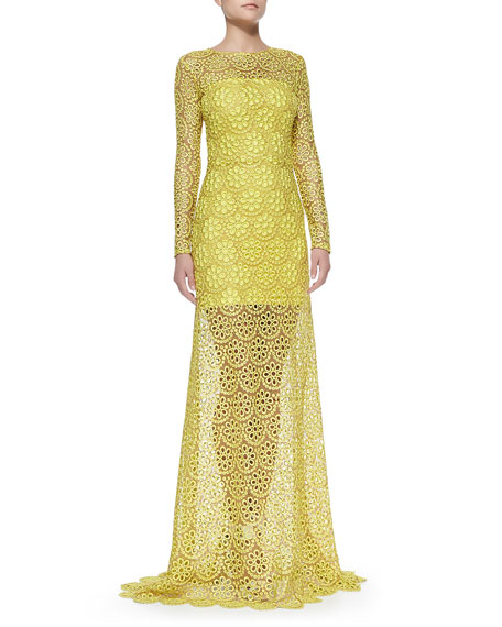 Vicenzo Lace Gown Alexis ZKNUL