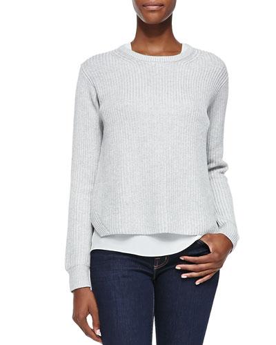 Remrita Crewneck Two-Tone Sweater