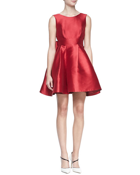 fd1453ac1d0 kate spade new york sleeveless mini cocktail dress with large back bow