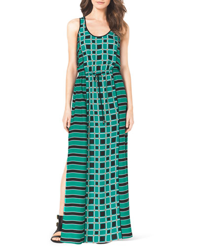 Soho Square Printed Maxi Dress
