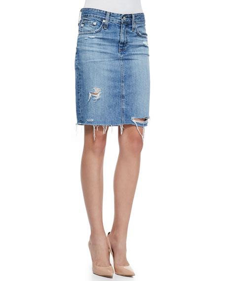 80642983da AG Adriano Goldschmied Erin 16-Years Ascension Denim Skirt