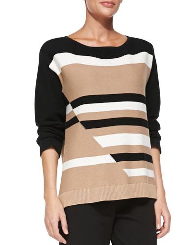 Broken Stripe Sweater, Women's