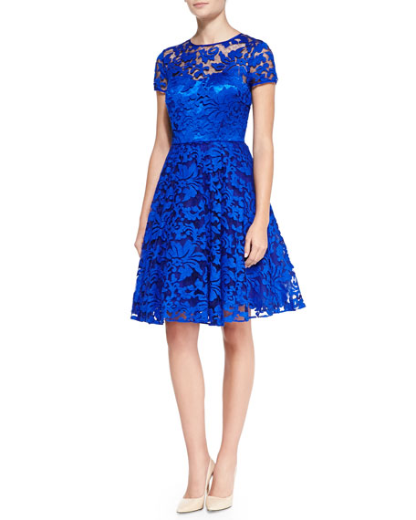 0ded4ce6785 Ted Baker London Caree Floral Lace Fit-And-Flare Dress
