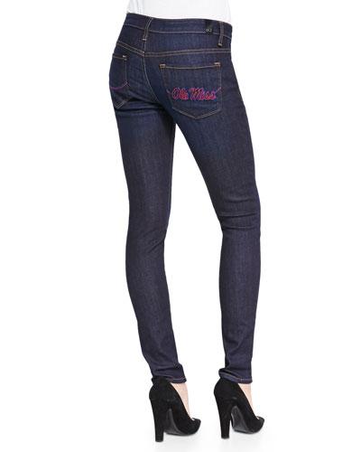 Ole Miss?? Branded Skinny Jeans, Blue