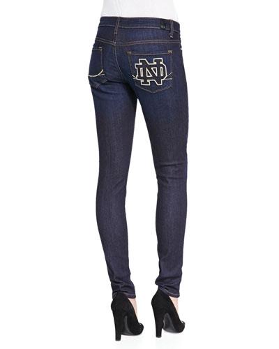 Notre Dame?? Branded Skinny Jeans, Blue