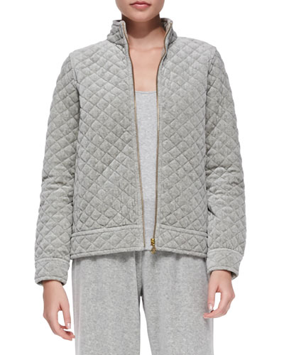 Quilted Velour Jacket