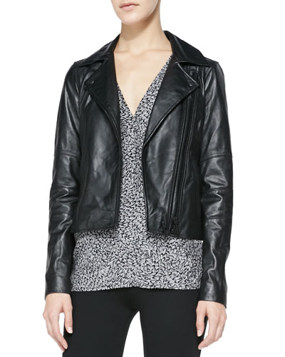 Davey Lambskin Leather Jacket