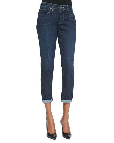 Slim Stretch Ankle Jeans, Washed Indigo, Petite