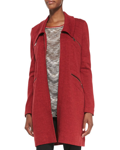 Permafrost Knit Zip-Pocket Jacket, Rio Red