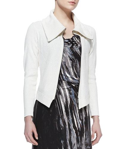 Foiled Knit Moto Jacket, Women's