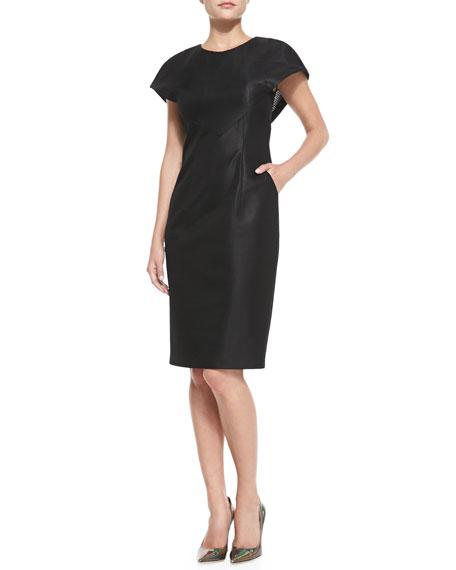 c045d7b8 Catherine Malandrino Cape-Sleeve Sheath Dress with Pockets