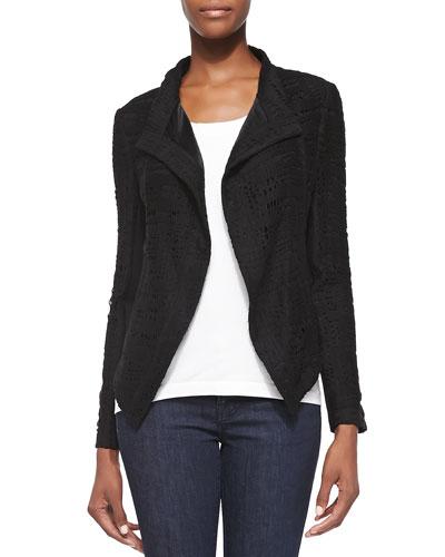 Abbie Peaked Cutout Jacket, Black