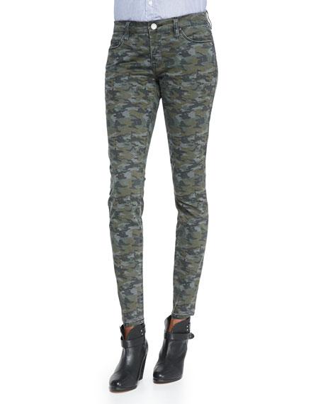 a7ce2c81a2f217 Blank Camolot Camo-Print Skinny Jeans, Green