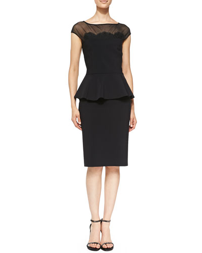 Lucetta Lace Appliqu?? Cocktail Dress