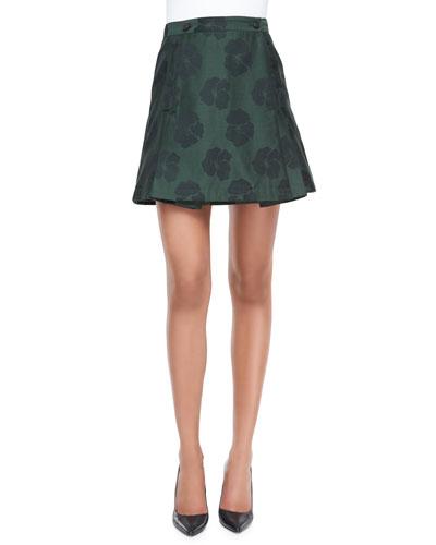 Karina Jacquard Draped Skirt