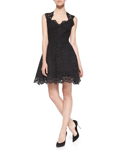 Antilles Scalloped Lace Dress
