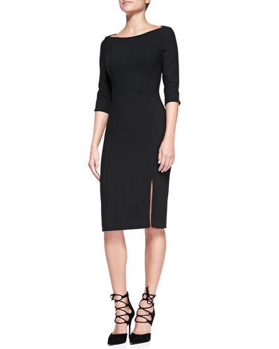 Marisa 3/4-Sleeve Sheath Dress