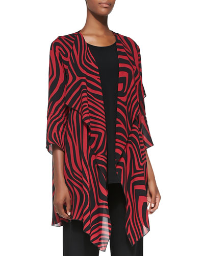 Red Zone Zebra-Print Jacket, Women's