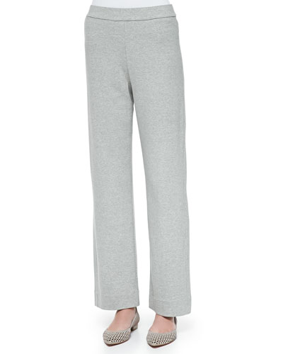 Full-Length Jog Pants, Gray Heather, Women's