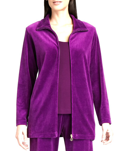 Long Velour Jacket, Women's